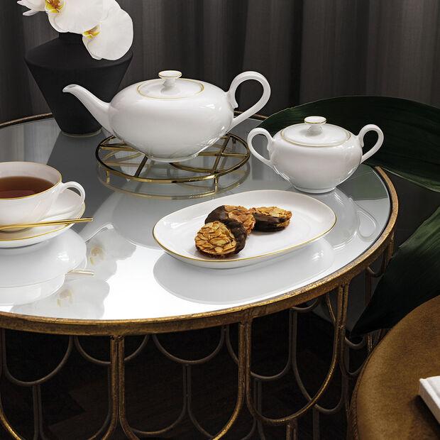 Anmut Gold dzbanek do herbaty, 1 l, biały/złoty, , large
