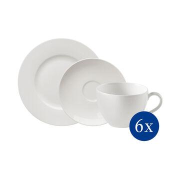 vivo | Villeroy & Boch Group Basic White Zestaw do kawy, 18-częściowy
