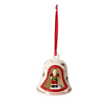 My Christmas Tree dzwonek z figurką św. Mikołaja, kolorowy, 6 x 6 x 7 cm