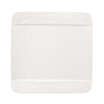 Manufacture Rock Blanc kwadratowy talerz płaski, biały, 28 x 28 x 2 cm