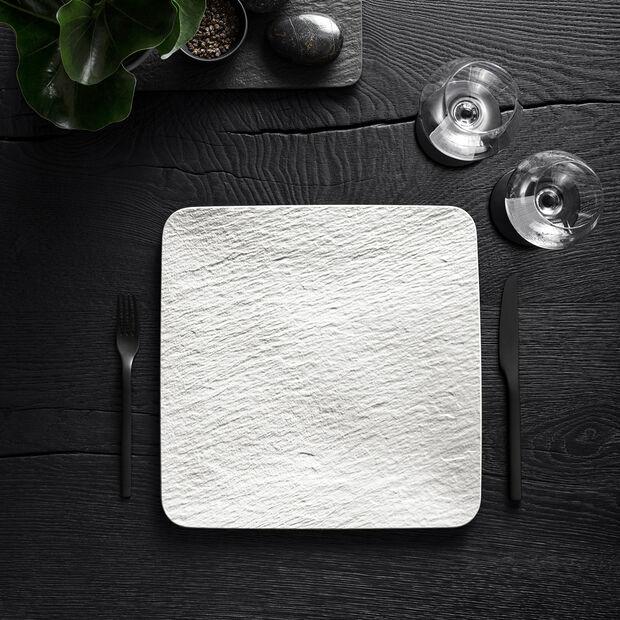 Manufacture Rock Blanc kwadratowy półmisek / talerz Gourmet, biały, 32,5 x 32,5 x 1,5 cm, , large