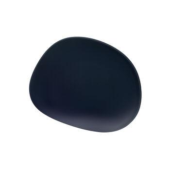 Organic Dark Blue talerz śniadaniowy, ciemnoniebieski, 21 cm