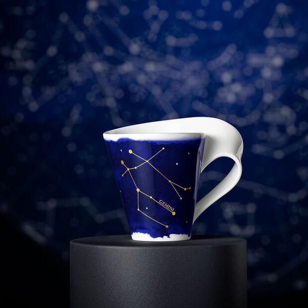 NewWave Stars kubek Bliźnięta, 300 ml, niebieski/biały, , large
