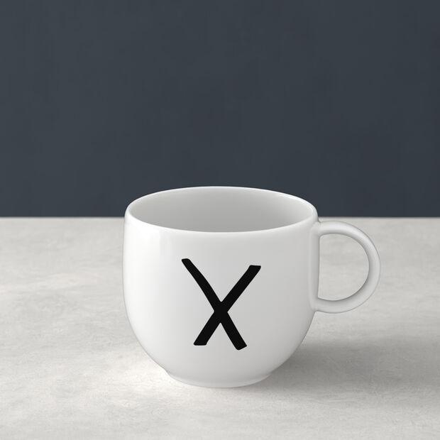 Letters Kubek X 13x10x8cm, , large