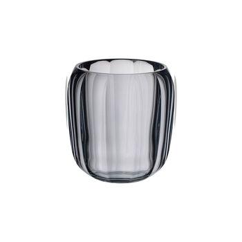 Coloured DeLight szklany świecznik Cosy Grey