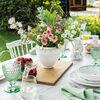 Colourful Spring szeroki wazon, biały/zielony, , large
