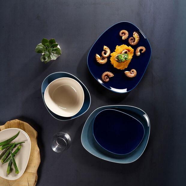 Organic Dark Blue talerz śniadaniowy 28 x 24 x 3cm, , large