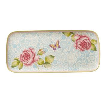 Rose Cottage czworokątny talerz do ciasta