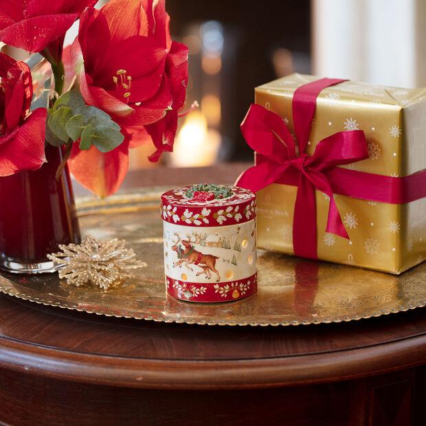 Christmas Toy's mały okrągły prezent, czerwony/kolorowy, 9,5 cm, , large