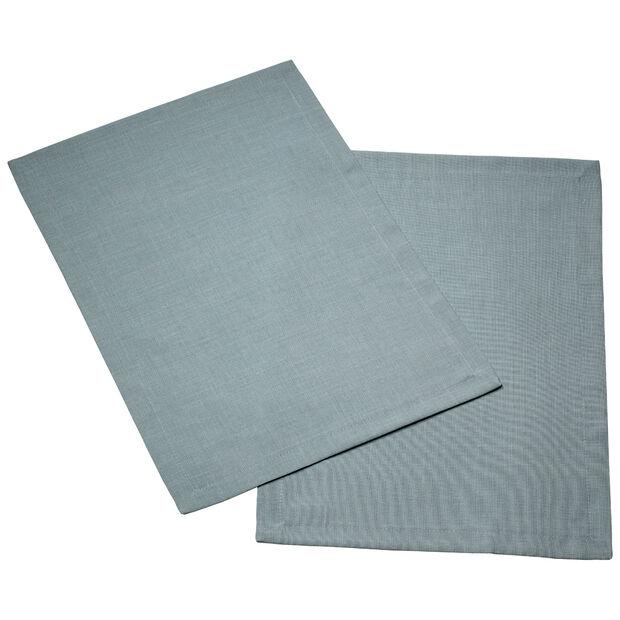 Textil Uni TREND podkładka niebieski lis zestaw 2-częściowy 35x50cm, , large
