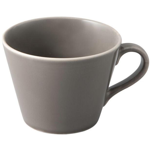 Organic Taupe filiżanka do kawy, brązowoszara, 12 x 9,5 x 7 cm, , large