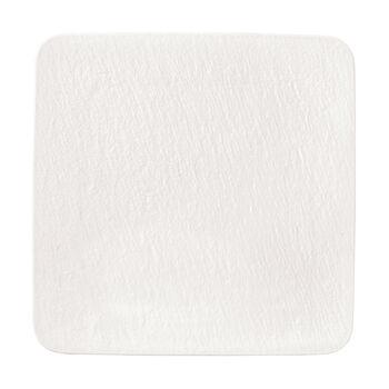 Manufacture Rock Blanc kwadratowy półmisek / talerz Gourmet, biały, 32,5 x 32,5 x 1,5 cm