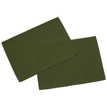 Textil Uni TREND podkładka ciemno zielona zestaw 2-częściowy 35x50cm