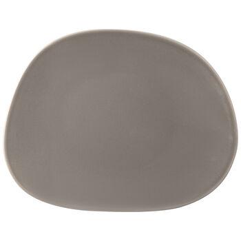 Organic Taupe talerz śniadaniowy, brązowoszary, 21 x 17 x 2 cm