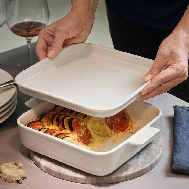 Clever Cooking Naczynie do serw/Pokrywka kwadr. 22x22cm, , large