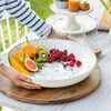 Colourful Spring duża miska do sałatek, 5,2 l, biały/zielony, , large