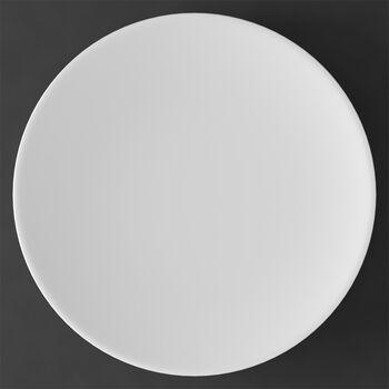 MetroChic blanc talerz bufetowy i na ciasto, średnica 33 cm, biały