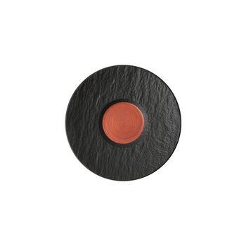 Manufacture Rock Glow spodek do filiżanki do espresso, miedziany/czarny, 12 x 12 x 2 cm